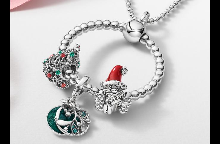 Colgante O de Pandora y Colección de Navidad